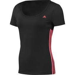 Tee-shirt manches courtes Adidas Performance Essential MF 3 Stripes Tee