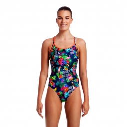 Maillot 1 pia ce funkita diamond back one piece 36