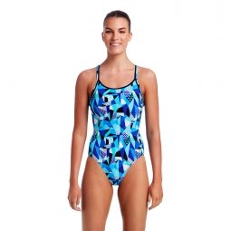 Maillot 1 pia ce funkita diamond back one piece 38