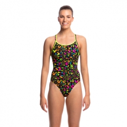 Maillot 1 pia ce funkita diamond back one piece 40