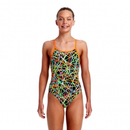 Maillot 1 pia ce funkita diamonds back one piece 8 ans