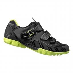 chaussures vtt bontrager rhythm noir fluo 46