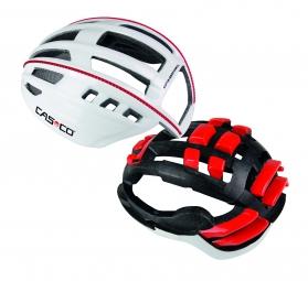 casco casque speedairo sans visiere blanc rouge m 54 58 cm