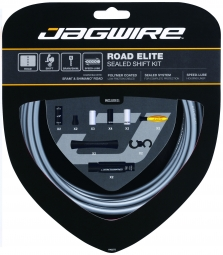 jagwire kit complet cables gaines road elite sealed derailleurs gris