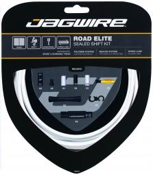JAGWIRE Kit Complet Câbles Gaines ROAD ELITE SEALED Dérailleurs Blanc