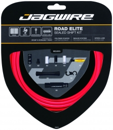 Jagwire kit complet cables gaines road elite sealed derailleurs rouge