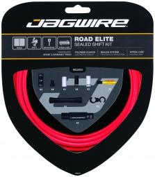 JAGWIRE Kit Complet Câbles Gaines ROAD ELITE SEALED Dérailleurs Rouge