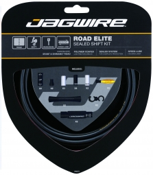 jagwire kit complet cables gaines road elite sealed derailleurs noir