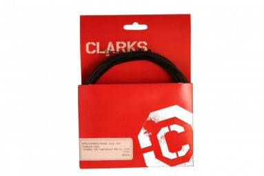 clarks kit cable gaine de derailleur noir