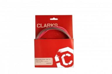 CLARKS Kit Cable + Gaine de Dérailleur Rose
