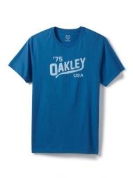 oakley tee shirt legs bleu electrique l