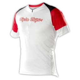 troy lee designs maillot manches courtes ace blanc s