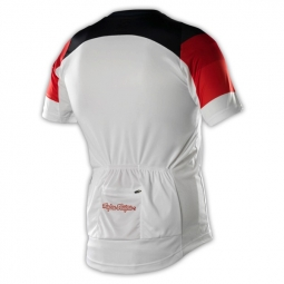 troy lee designs maillot manches courtes ace blanc l