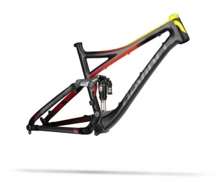 DEVINCI 2014 Frameset DIXON Alu-Carbon 26'' 145mm Red Yellow