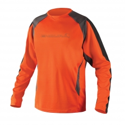 endura maillot manches longues mt500 burner ii orange s