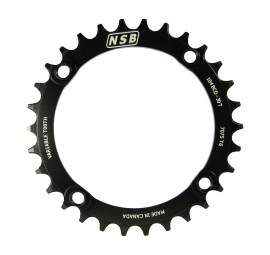 nsb plateau mono 10v a dents variable 104mm noir 30