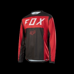 Maillot fox indicator ls moth jersey red black xl
