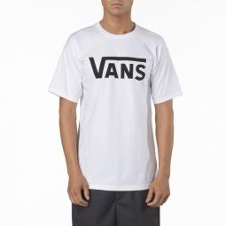vans t shirt manches courtes classic blanc noir l