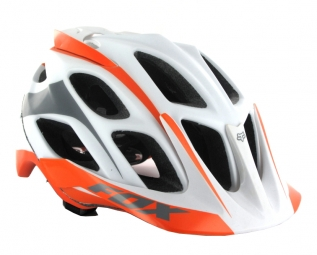 Casco Fox FLUX Naranja Blanco