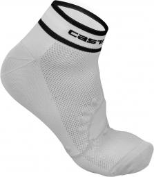 castelli paire de chaussettes logo 3 blanc noir 36 39