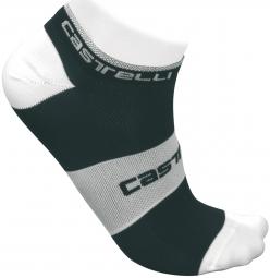 castelli paire de chaussettes lowboy socks noir blanc 40 43