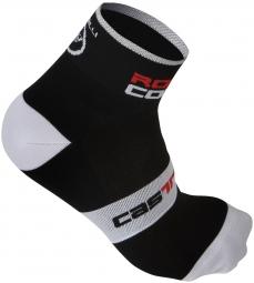 castelli paire de chaussettes rosso corsa 6 noir 44 47