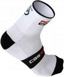 castelli paire de chaussettes rosso corsa 9 blanc 36 39