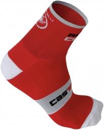 castelli paire de chaussettes rosso corsa 9 rouge 35 39