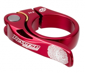 REVERSE Collier de selle LONG LIFE Diamètre 34.9 mm Rouge