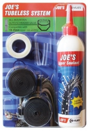No flats joe s kit de transformation tubeless all mountain schrader 19 25 mm 240ml