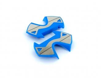 TIME Plaques Inox pour pédales X-PRESSO Bleu
