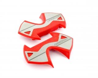 Time plaques inox pour pedales x presso rouge