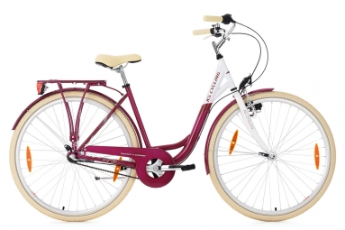 Velo de ville femme ks cycling belluno 700mm shimano nexus 3v rose 48 cm 167 176 cm