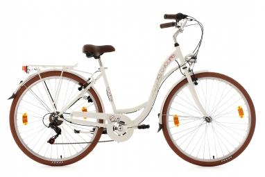 Velo de ville ks cycling eden 700mm shimano tourney 6v blanc 48 cm 155 165 cm