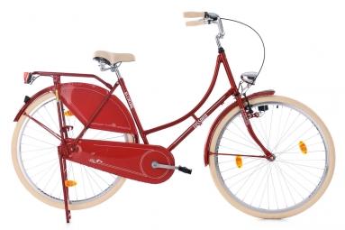 Velo de ville femme ks cycling tussaud 700mm singlespeed rouge 53 cm 160 175 cm