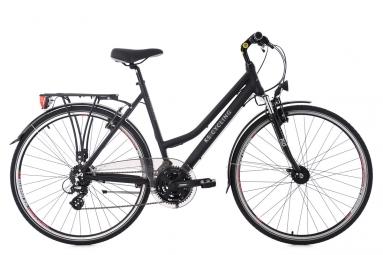 Vtc femme ks cycling norfolk 700mm shimano altus 8v guidon plat noir 48 cm 167 176 cm