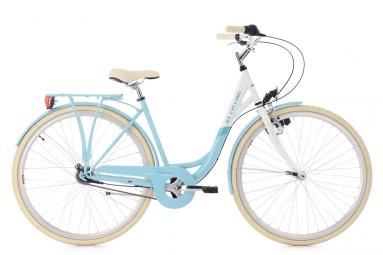 Velo de ville femme ks cycling belluno shimano nexus 7v bleu 47 cm 152 160 cm