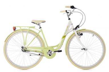 Velo de ville femme ks cycling belluno 700mm shimano nexus 7v vert 48 cm 155 165 cm