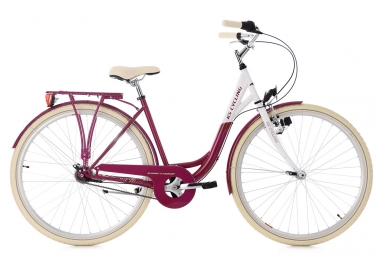 Velo de ville femme ks cycling belluno 700mm shimano nexus 7v rouge 48 cm 155 165 cm