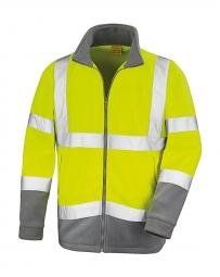 Result Veste micropolaire sécurité R329X - jaune fluo