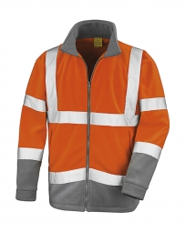 Result Veste micropolaire sécurité R329X - orange fluo