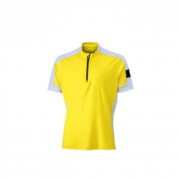 Maillot cycliste homme jn452 jaune s