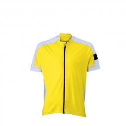 James et nicholson maillot cycliste zippe homme jn454 jaune s