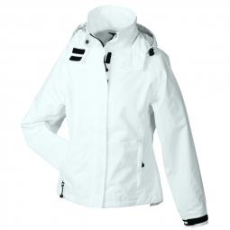 Veste hiver coupe vent impermeable femme jn1011 blanc