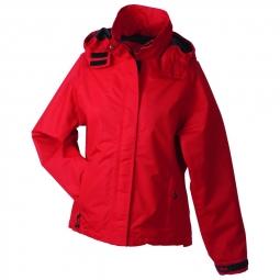 Veste hiver coupe vent impermeable femme jn1011 rouge