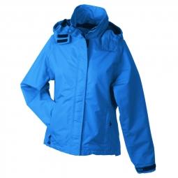 Veste hiver coupe vent impermeable femme jn1011 azur bleu