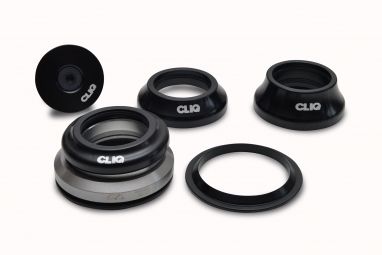 CLIQ Headset Tapered Integrated 1''1/8 - 1.5'' Black