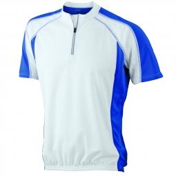 James et nicholson maillot cycliste homme jn420 blanc et bleu s