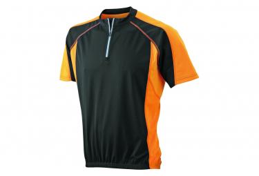 James et Nicholson maillot cycliste HOMME JN420 - noir et orange