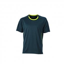 James et nicholsont shirt respirant running jogging jn472 gris fer homme course a pi